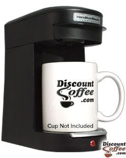 Costa Rican Pod Coffee Maker, Hamilton Beach Commercial Brewer, Single Cup In-room Coffee