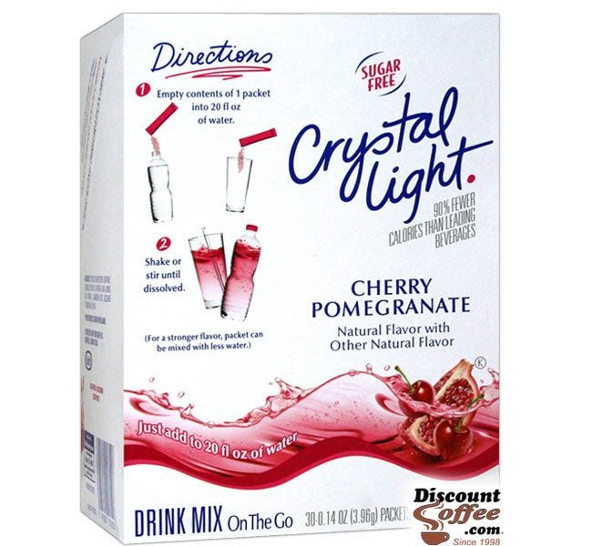 Sugar Free Cherry Pomegranate Bottled Water Drink Mix | Crystal Light on the Go