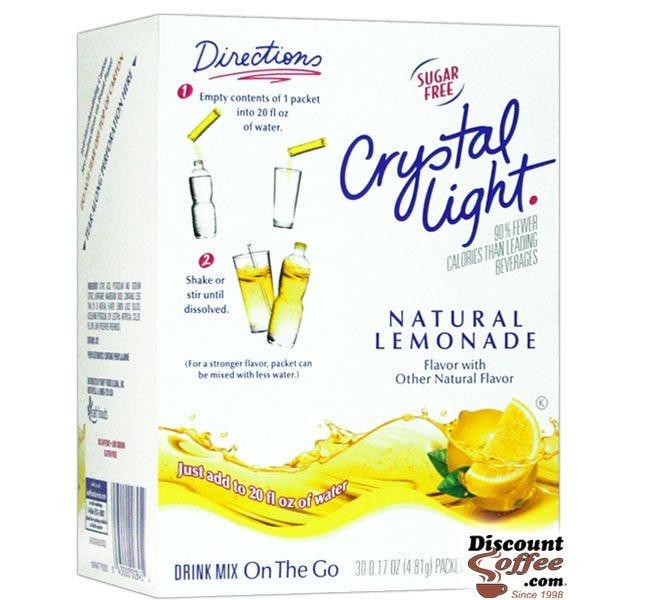 Crystal Light On the Go Lemonade Drink Mix | Bottled Water
