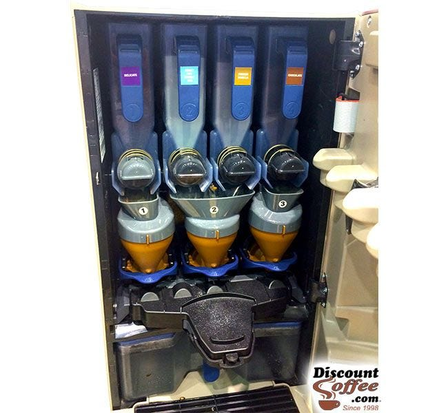Decaf Nescafe Alegria Hopper Coffee Machine | Freeze Dried Vending Decaffeinated Coffee Beverages, Food Service Case