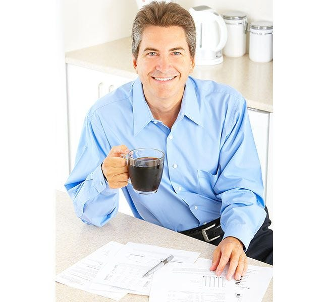 Drink Chock full o'Nuts Original Coffee | Coffee drinker enjoy morning cup of Original Chock full o'Nuts Ground Coffee.