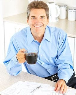 Drinking Folgers 100% Colombian Coffee | Keurig® Hot K-Cup® Pods for Keurig® K-Cup® brewers.