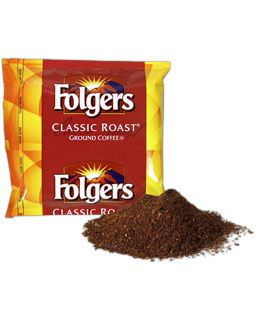 Folgers Classic Roast Ground Coffee and Pillow Pack