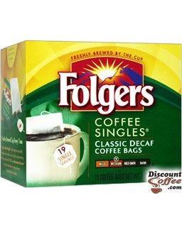 Decaf Folgers Classic Roast Singles