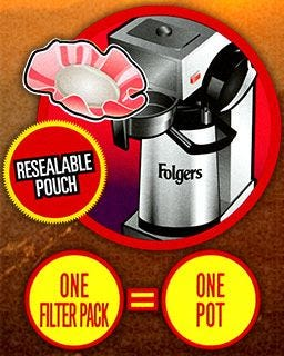 Commercial Airpot Coffee Brewer | Folgers Filter Pack brews perfect pots of Colombian Coffee.