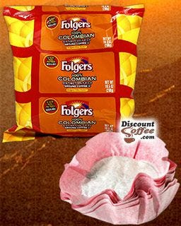 Folgers Filter Pack 100% Colombian Coffee | 1.40 oz. filters, 40 pots per case