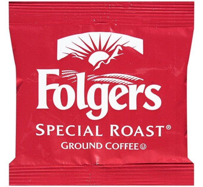 Folgers Special Roast Coffee Packets 42 Count | .8 oz. Pre-measured Fraction Packs Brew 12 Cup Pots.