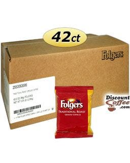 Folgers Traditional Roast Ground Coffee 42 - 2 oz. Bags