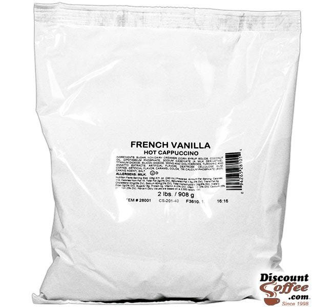 French Vanilla Cappuccino Vending Mix 2 lb. Bag | Refills Commercial Hot Beverage Hopper Machine, Foodservice 6 Bag, 12 lb. Case.