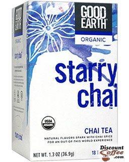 Good Earth Starry Chai Organic Black Tea | Cinnamon, Cardamom, Nutmeg, Licorice - Ginger Root.