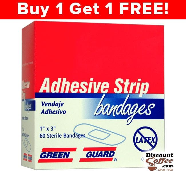 Green Guard Adhesive Strip Bandages 60 ct. Box | Compare to Band-Aids