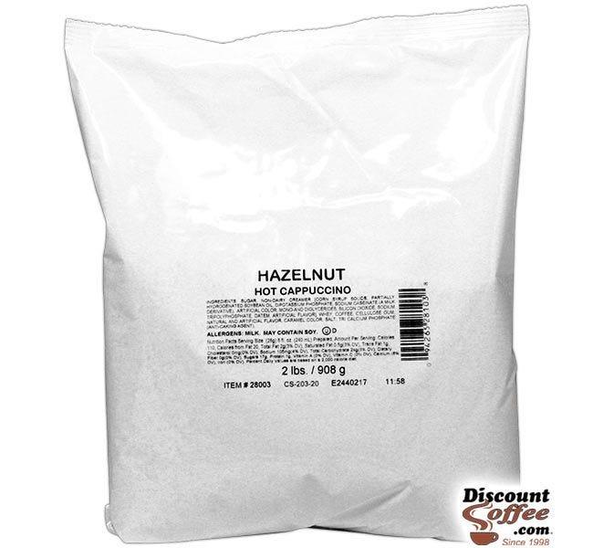 Hazelnut Cappuccino Vending Mix 2 lb. Bag   Refills Commercial Hot Beverage Hopper Machine, Foodservice 6 Bag, 12 lb. Case.