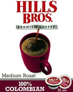 Hills Bros. Colombian Coffee Pods | Medium Roast, 100% Arabica Single Serve Coffee Cups