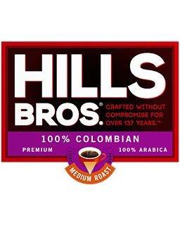 Hills Bros. Colombian Coffee | Medium Roast, 100% Arabica Ground Coffee Pods