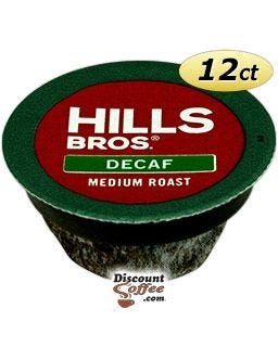 Hills Bros Decaf Coffee K-Cup Pod | Decaffeinated Single Serve Cups for Keurig Brewers