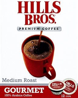 Hills Bros. Gourmet Coffee Pods | Medium Roast Coffe, Single Serve K-Cups®