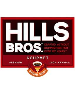 Hills Bros. Gourmet Coffee | 100% Arabica, Medium Roast Ground Coffee Pods