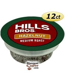 Hills Bros Hazelnut Flavored Coffee | Single Serve K-Cup Pods for Keurig Brewers