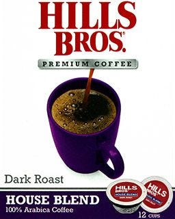 Hills Bros. House Blend Coffee Pods | Dark Roast, Single Serve K-Cup® Coffee