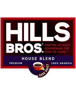 Hills Bros. House Blend Coffee | 100% Arabica, Dark Roast Ground Coffee Pods