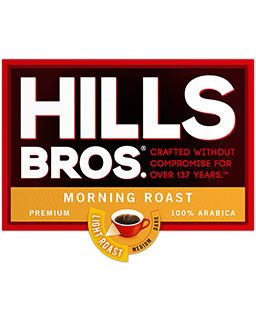 Hills Bros. Morning Roast Coffee | Light Roast Ground Coffee, Single Serve Pods