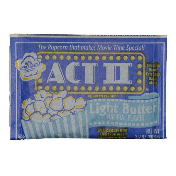 Light Butter Act II Microwave Popcorn 36/Case