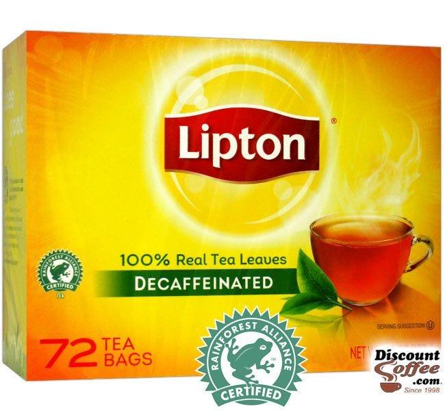 Decaf Lipton Tea Bags   Single Cup Decaffeinated Hot Tea, Rainforest Alliance