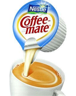 Milk dairy tolerance? Add Lactose free non-dairy Coffee-mate Single Serve flavors to your coffee cup.