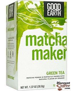 Matcha Maker Green Tea | Good Earth Tea, Orange Citrus, Chamomile, Licorice Root, Ginger