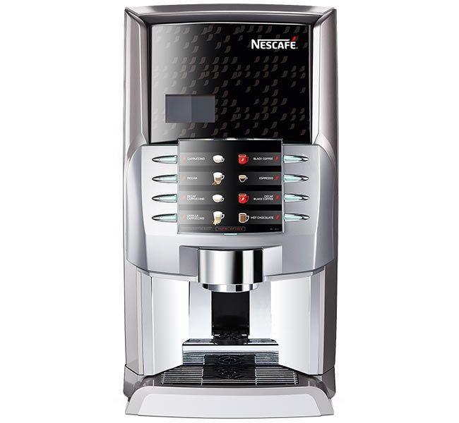 Nescafe Alegria Cappuccino beverage vending machine | Nestle Professional Cafe Ristretto Topping Mix