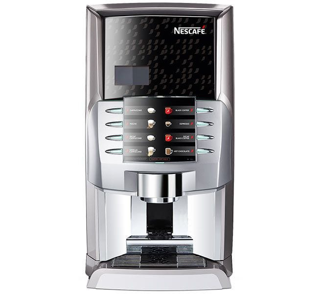 Nescafe Alegria French Vanilla Cappuccino Machine | Nestle French Vanilla Hot Beverage Vending Machine Hopper Dispenses Water Soluble Mix.