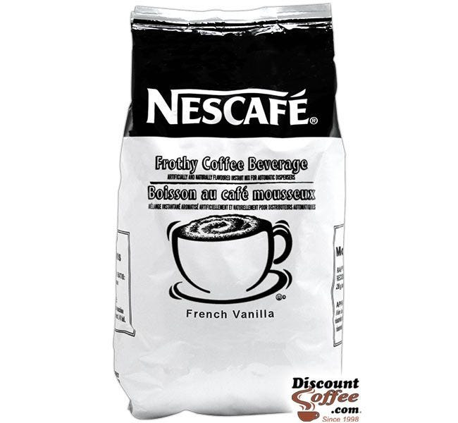 Nescafe French Vanilla Cappuccino Mix 2 lb. Bag | Commercial Food Service Vending Hot Beverage Flavored Powder Mix.