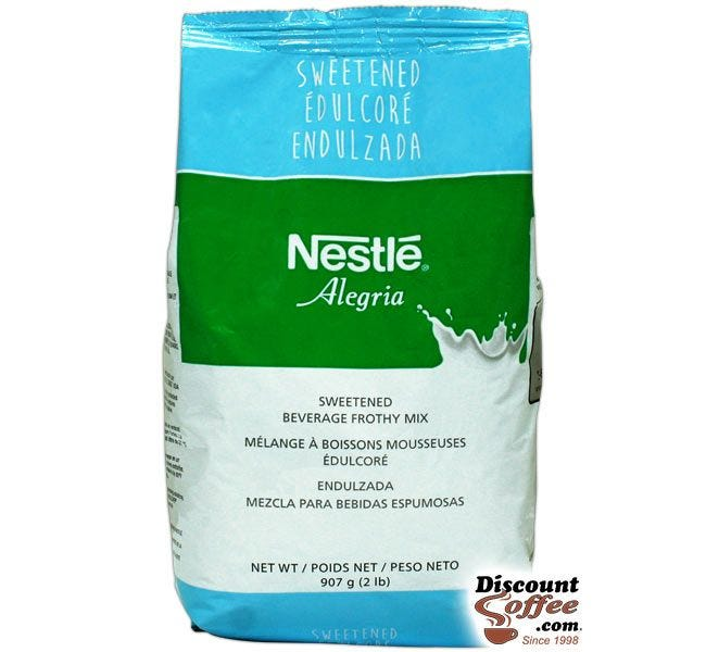 Nestle Alegria Sweetened Beverage Frothy Mix | Nescafe Cappuccino Topping Mix, Bulk 2 pound bags