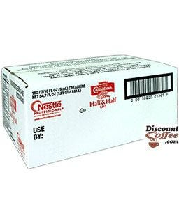 Nestle Carnation Half and Half coffee creamer individual single serve tubs, 180 count case