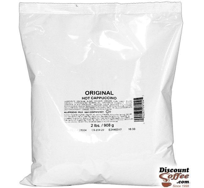 Original Cappuccino Vending Mix 2 lb. Bag | Refills Commercial Hot Beverage Hopper Machine, Foodservice 6 Bag, 12 lb. Case.