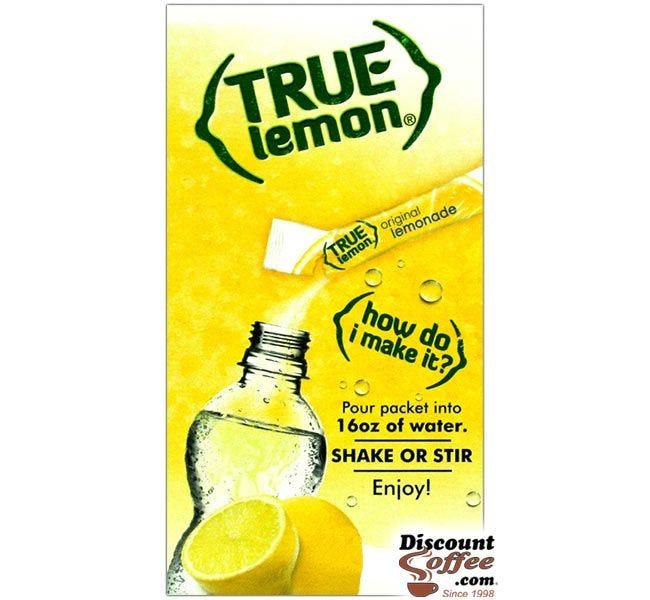 Original Lemonade Powder Drink Mix, True Lemon, Stevia Sweetened. | Natural Lemon Juice Flavor