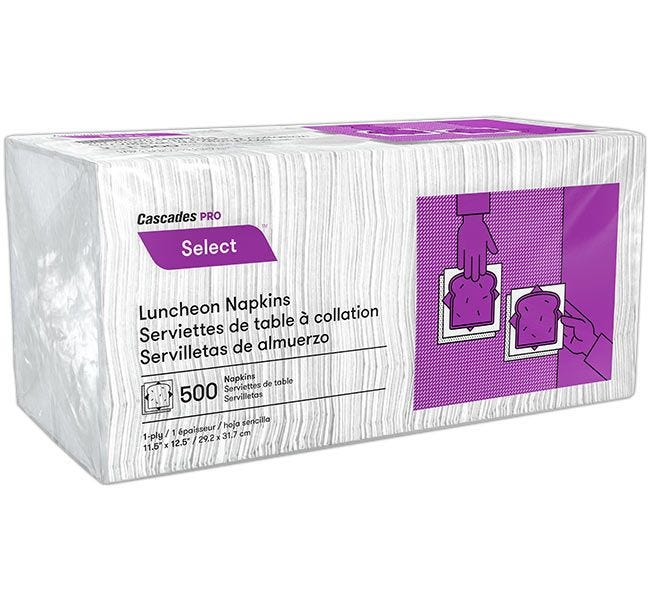 Paper Lunch Napkins 500 ct.   1 Ply, 1/4 Fold, 11.5