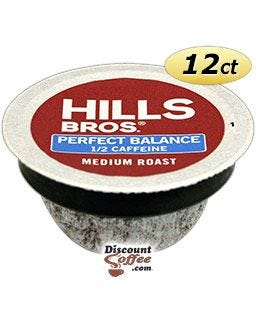 Perfect Balance Coffee Pod | Half Caffeine Hills Bros Medium Roast K-Cup® Pods