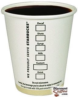Printed Starbucks Coffee Logo Cups | Starbucks Short 8 ounce Disposable Paper Hot Cups