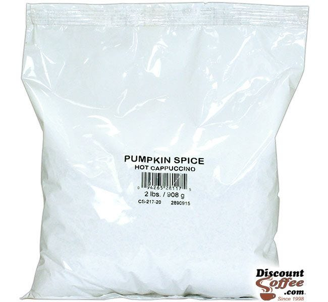Pumpkin Spice Cappuccino Vending Mix 2 lb. Bag | Refills Commercial Hot Beverage Hopper Machine, Foodservice 6 Bag, 12 lb. Case.