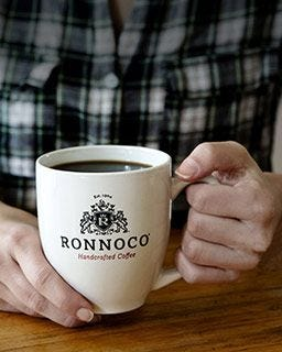 Ronnoco Private Estate Medium Roast Coffee Brews perfect cup | Handcrafted Gourmet Coffee.