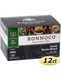 Ronnoco Decaffeinated House Blend K-Cup Coffee, Ronnoco Decaf House Blend One Cup Coffee