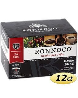 Ronnoco House Blend One Cup Coffee for use in Keurig® K-Cup® Brewing Systems