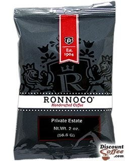 Ronnoco Private Estate Coffee, Handcrafted Medium Roast Ground Coffee, 2.0 ounce Packet