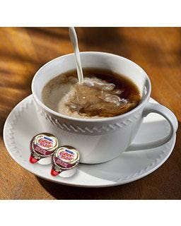 Salted Caramel Chocolate Creamer Cup | Flavored Coffee-mate Creamer Tubs, Single Serving, No Refrigeration