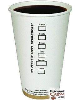 Starbucks Grande 16 oz. Printed Logo Cups | Starbucks Coffeehouse Advertising Imprinted Paper Cups