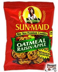 Oatmeal Rasin Apple Sun-Maid Cookies, Biscomerica Cookies