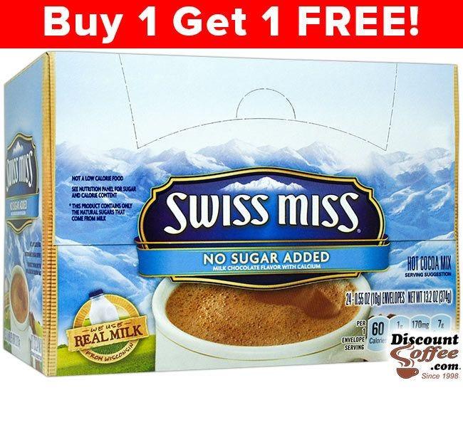 Swiss Miss No Sugar Added Hot Chocolate Mix