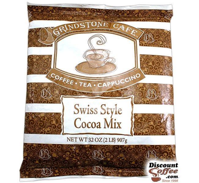 Swiss Style Hot Cocoa Chocolate Vending Mix 2 lb. Bag | Refills Commercial Hot Beverage Hopper Machine, Foodservice 6 Bag, 12 lb. Case.