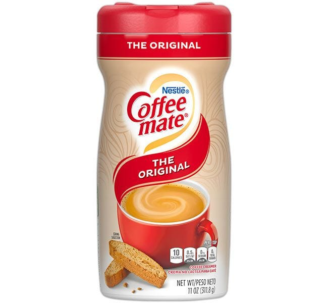The Original Coffee-mate Creamer Canister | Nestle Non-Dairy Coffee Creamer 11 oz. Canisters, Gluten Free, Kosher.